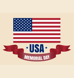 memorial day card vector image vector image