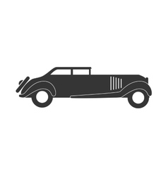 Retro car vehicle isolated flat icon vector image