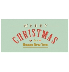 Vintage christmas sign text retro vector image vector image