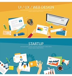 web design and startup concept flat design vector image