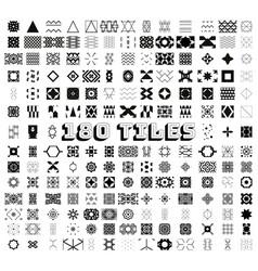 180 tiles geometric and ornamental seamless vector image
