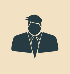 businessman in suit icon vector image vector image