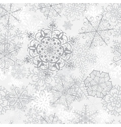 Christmas seamless gray pattern vector image