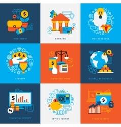 Finance Design Concept Set vector image