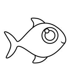 monochrome silhouette of fish without scales vector image