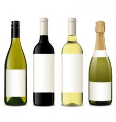 vector wine bottles vector image vector image