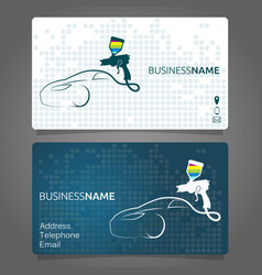 Business card for painting cars vector