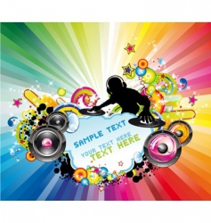 disco music flyer vector image