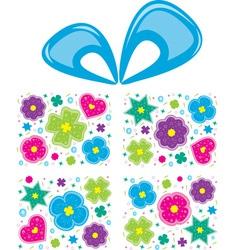 present flowers vector image vector image