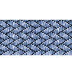 weaving jeans vector image