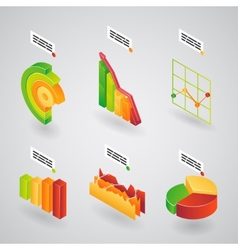 analytical charts for infographics vector image vector image