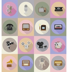 multimedia flat icons 19 vector image vector image