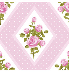 seamless walpaper with pink roses vector image