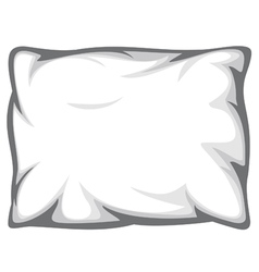 white pillow vector image vector image