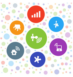 7 spot icons vector