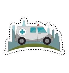 ambulance emergency vehicle icon vector image