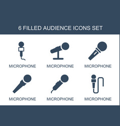 audience icons vector image