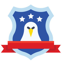 award shield with eagle symbol united state vector image