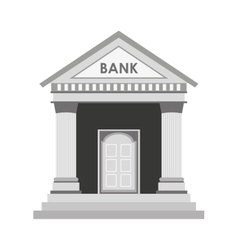 bank building construction silhouette icon vector image