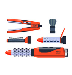 barber salon professional set with tools equipment vector image