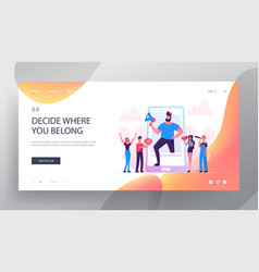 blogging social media networking website landing vector image
