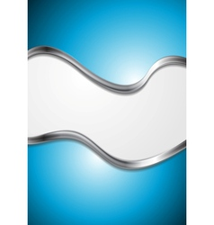 Bright blue abstract background vector