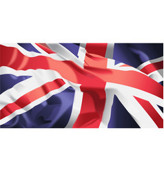 British flag waving vector