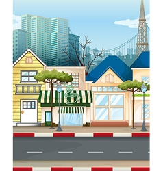 Business area in city vector