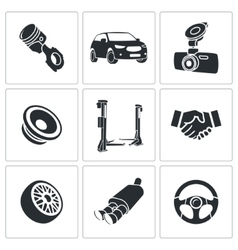 Car Repairs and Maintenance Icon set vector