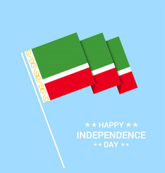 Chechen republic independence day typographic vector