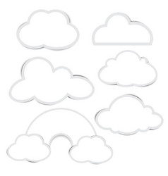 cloud paper set with shadow vector image