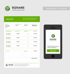 company invoice with logo and creative design vector image