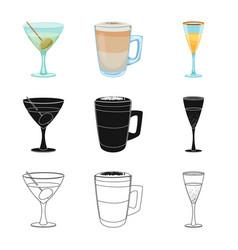 design of drink and bar logo set of drink vector image