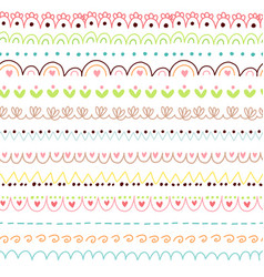 Doodles cute borders vector