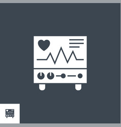 electrocardiogram related glyph icon vector image