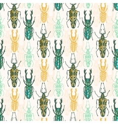 Ethnic tribal seamless pattern with insects vector image