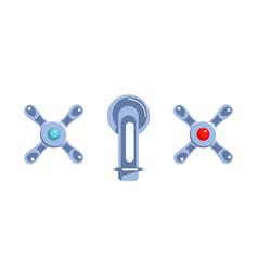 faucet cartoon icon vector image