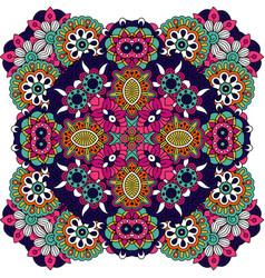 floral decorative ornamental badge vector image