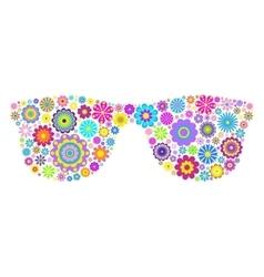 floral eyeglasses on white background vector image