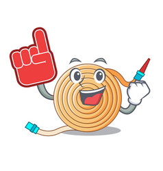 Foam finger the water hose mascot vector