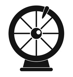 Fortune wheel icon simple style vector