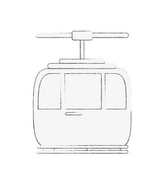 Funicular cable car icon image vector
