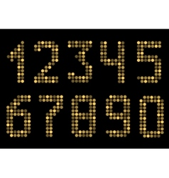 Golden number set vector