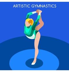 Gymnastics floor ex 2016 summer games 3d vector