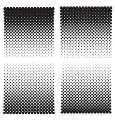 Halftone effect backgrounds vector