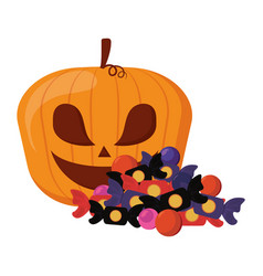 happy halloween celebration vector image