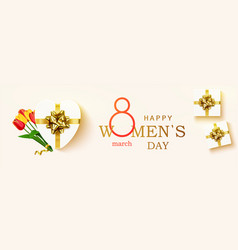 happy womens day horizontal banner vector image