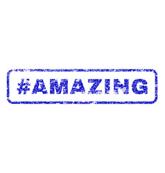 Hashtag amazing rubber stamp vector