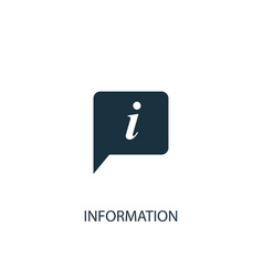information icon simple element vector image
