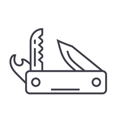 Knife army multipurpose toolswiss folding knife vector